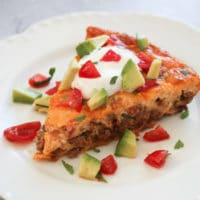 Crustless Taco Pie (Keto Taco Pie + Low Carb, Gluten Free)