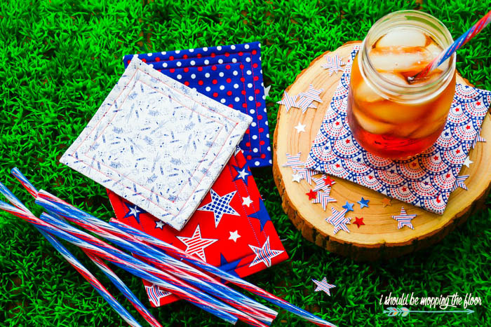 DIY Coasters - Patriotic Sewing Craft