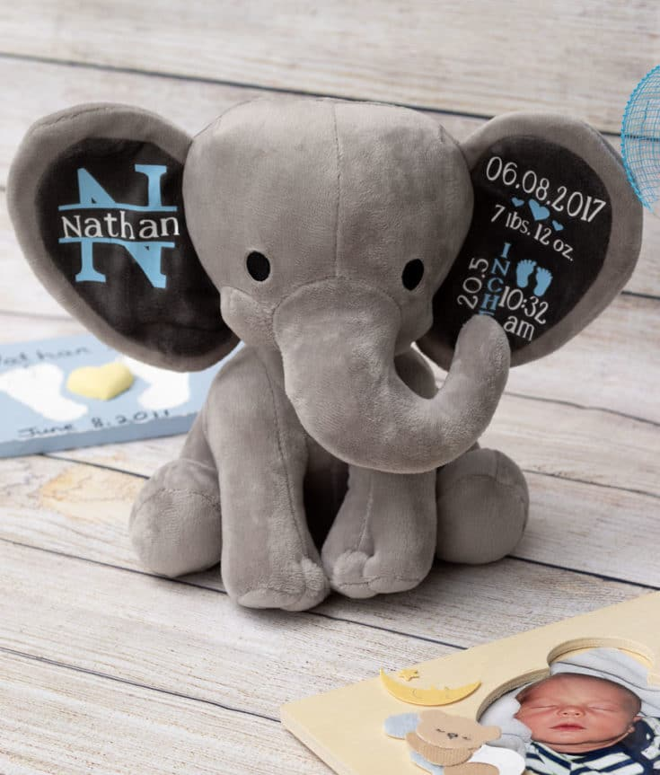 DIY Baby Gifts: How to Make an Adorable Birth Stat Elephant!