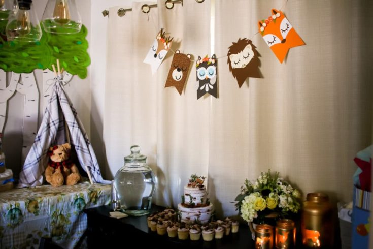 Woodland Baby Shower Decor