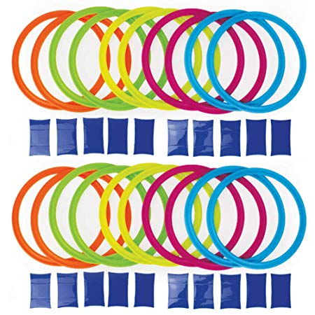 Boley Party Pizzazz! Hopscotch Ring Set with 20 Hoops and 20 Connectors - Great for Outdoor Play at The Park for Boys and Girls!