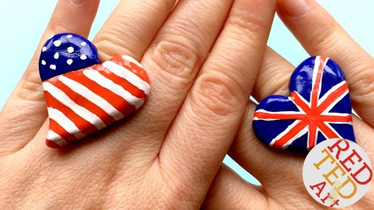 American Flag Ring DIY - Red Ted Art