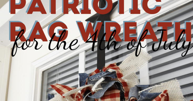 independence day craft: 4th of july rag wreath