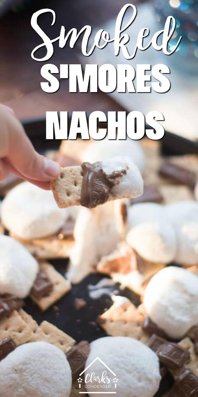 Smoked Smores / Grilled Smores / Smore Recipes / Smores / Outdoor Cooking / Traeger Recipes / Smoked Desserts #smokeddesserts  via @clarkscondensed