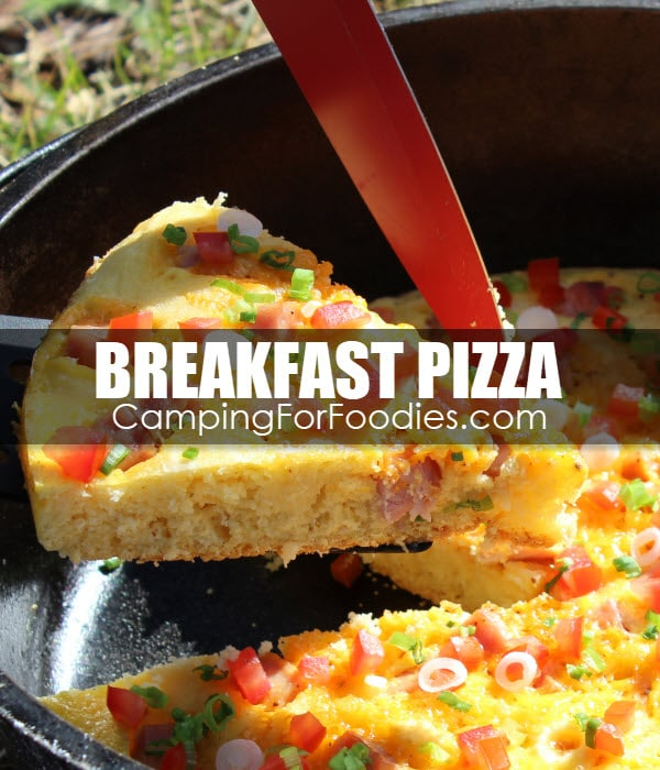 Dutch Oven Breakfast Pizza Camping Recipe
