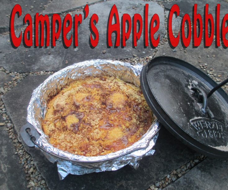 Camper's Outdoor Apple Cobbler
