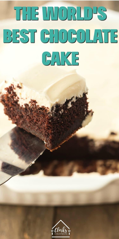 The World's Best Chocolate Cake Recipe / Chocolate Cake / Chocolate Cake Recipe / Moist Chocolate Cake / Easy Chocolate Cake via @clarkscondensed