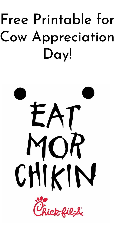 Cow Appreciation Day Costume + Eat Mor Chikin Sign via @clarkscondensed