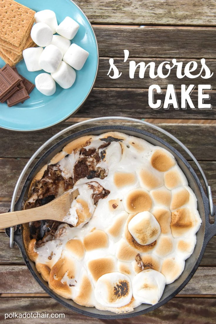 10 Minute Dutch Oven S'Mores Cake Recipe