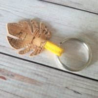 Cork Fabric Keychain Tutorial