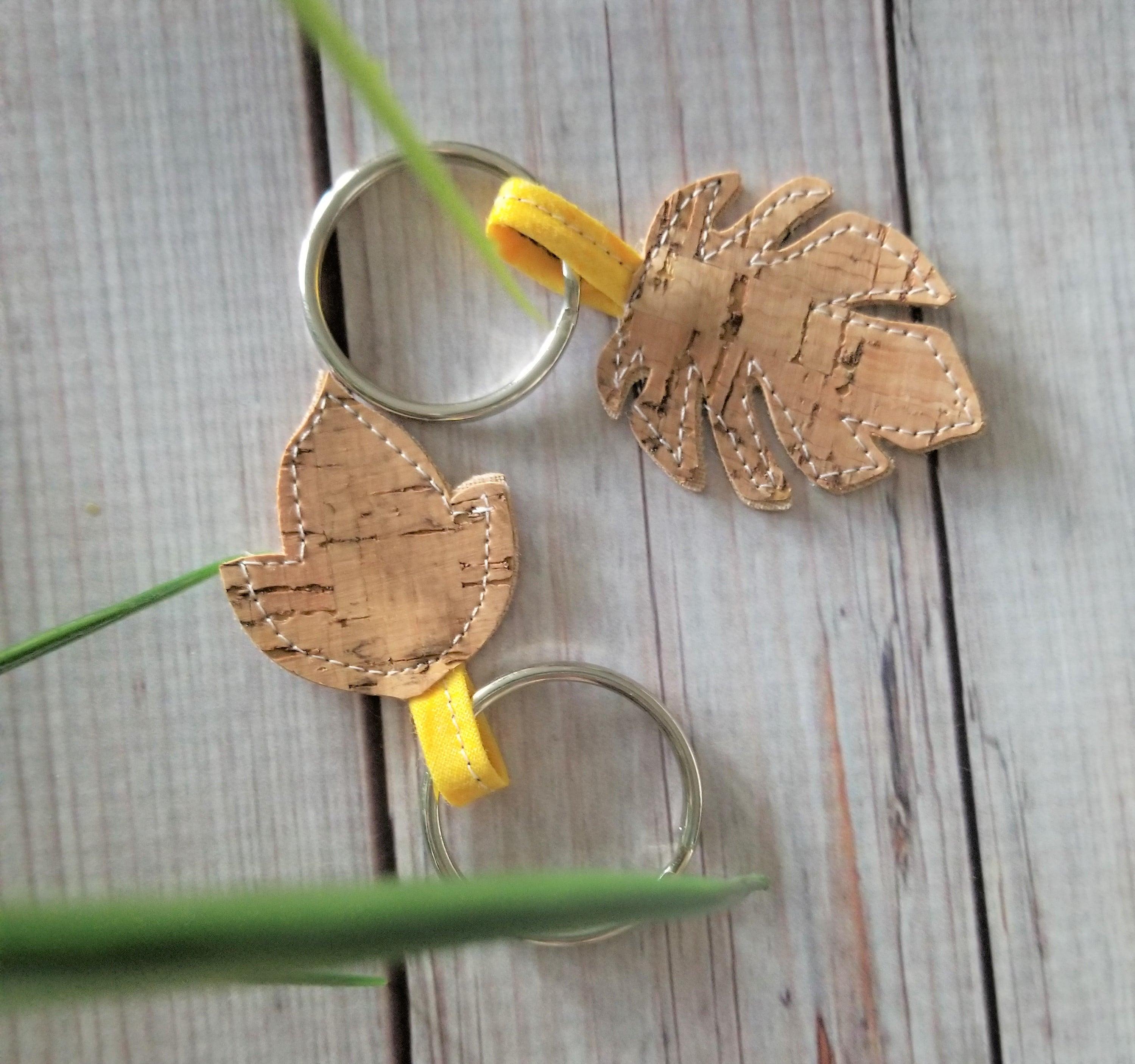 Cork Keychain