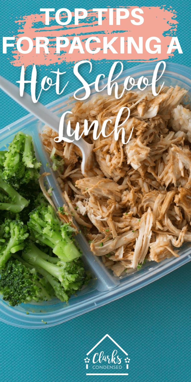 School Lunch Ideas / HOt Lunch Ideas / Lunch Ideas for Kids / School Tips /  via @clarkscondensed