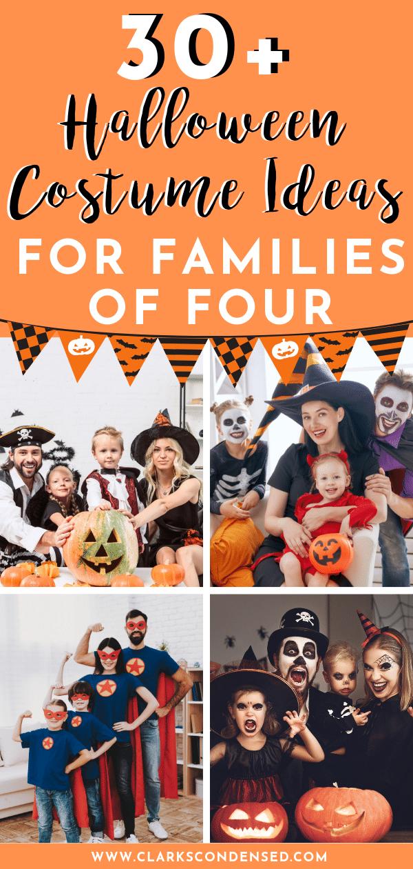 Halloween Costumes / Family of 4 Halloween Costumes / Halloween Costume Ideas via @clarkscondensed