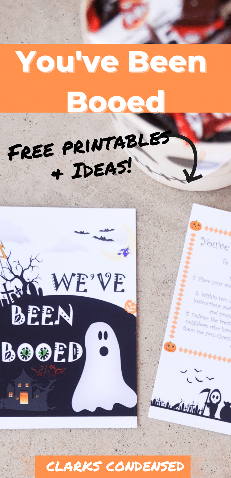 BOO! Be sure to grab these free You've Been Booed printables, learn more about this fun Halloween tradition, and find some booed basket ideas! You've Been Boo'ed Printable / You've Been Boo'ed Ideas / You've Been Boo'ed Free Printable / Halloween Ideas for Kids via @clarkscondensed