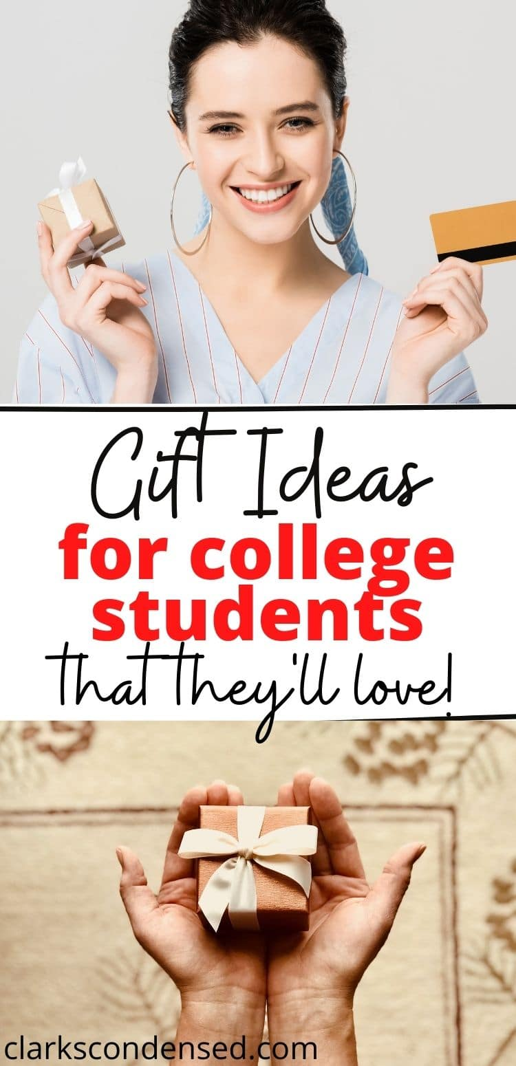 """Fun gift ideas for college students - whether it's Christmas, their birthday, or """"just because"""", these gift ideas are great for guys and girls. via @clarkscondensed"""