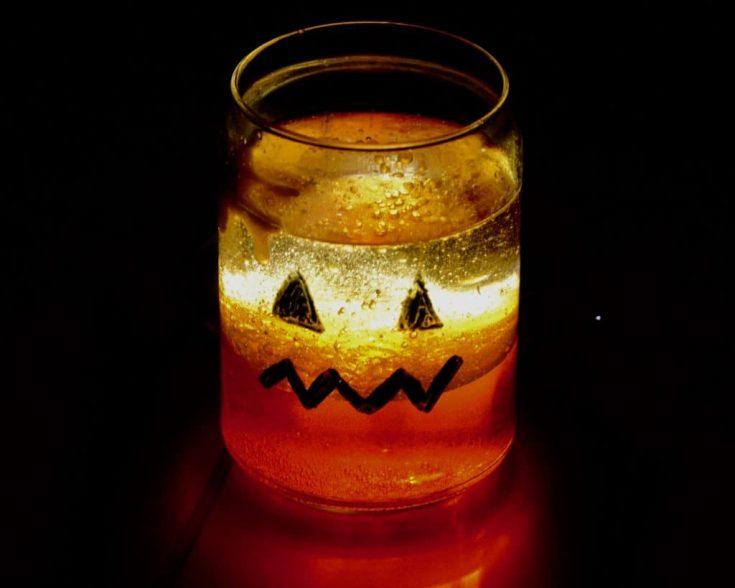 Pumpkin Lava Lamps - Halloween Science for Kids