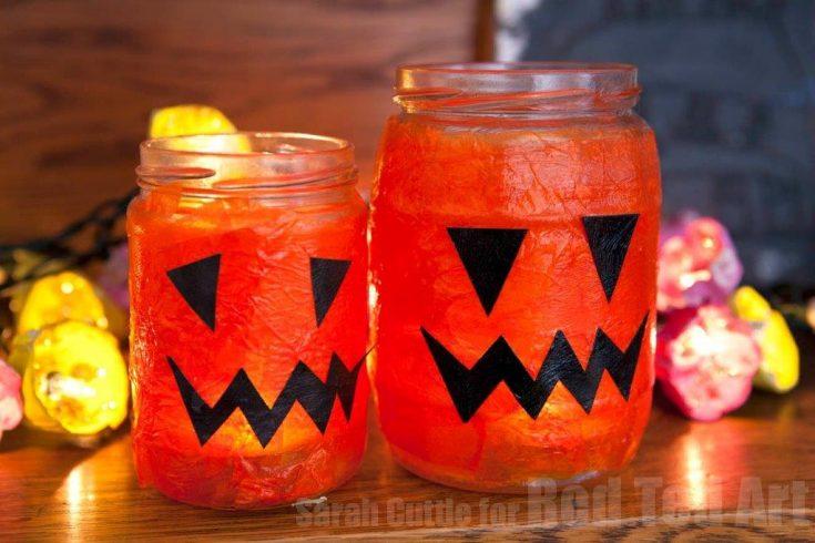 Easy Halloween Lanterns - Red Ted Art