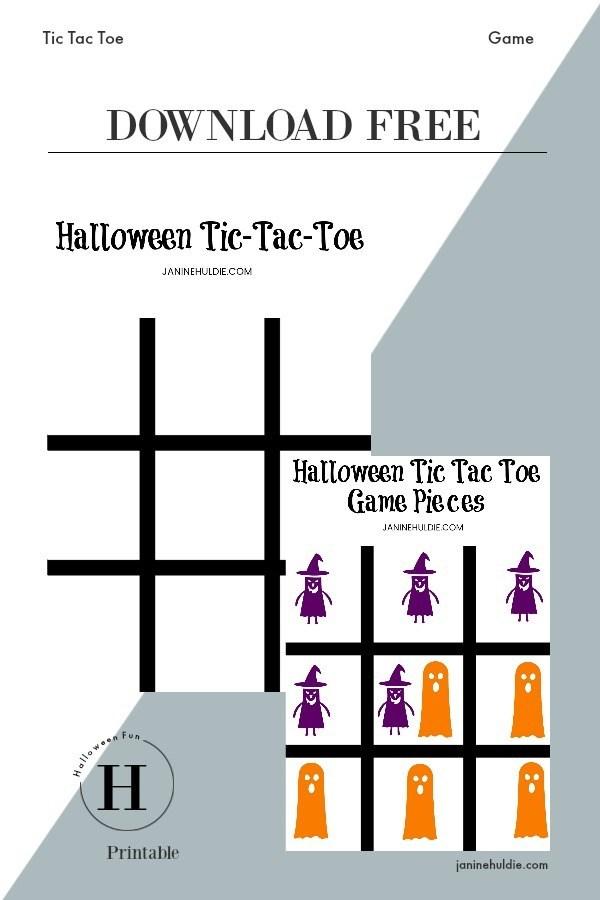 Tic Tac Toe Halloween Game FREE