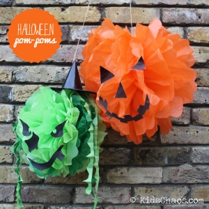 Craft Video - How to Make Paper Pom Poms - Red Ted Art