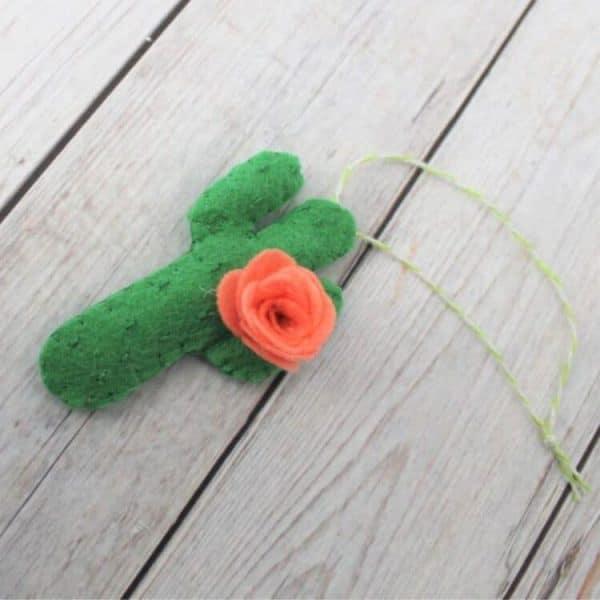 cricut cactus ornament