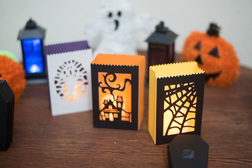 Cricut Halloween Luminaries