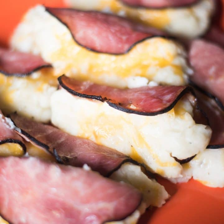 Ham, Potato and Cheese Roll-ups