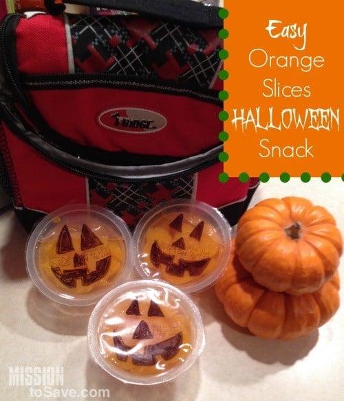 Cute Orange Slices Halloween Snack Idea (Easy!)