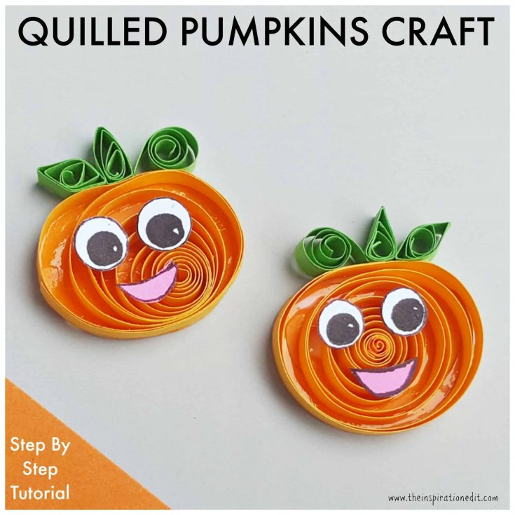 Quilled Pumpkin Halloween Craft For Kids