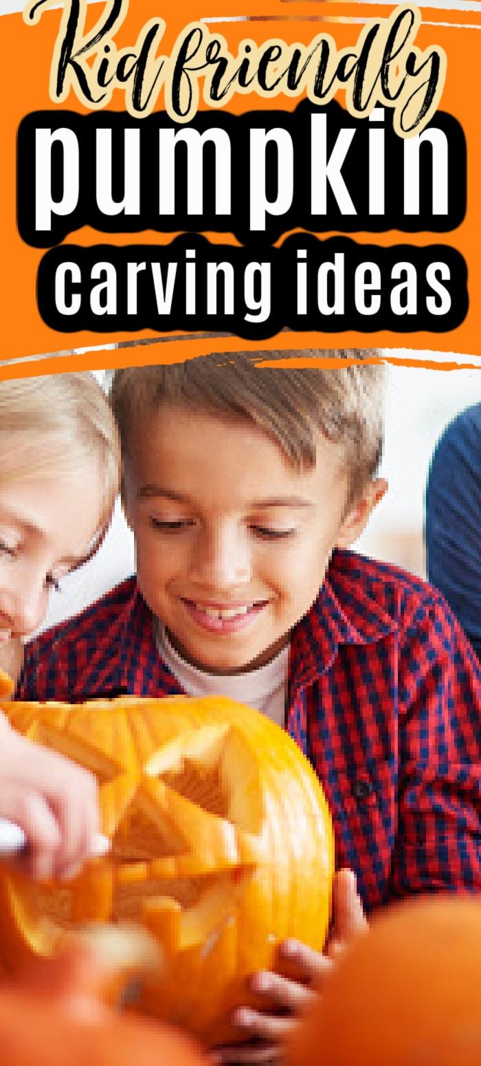 Pumpkin carving ideas / Pumpkin carving ideas for kids / Kid Friendly Pumpkin Ideas / Halloween / Halloween Decoration / Halloween for Kids via @clarkscondensed