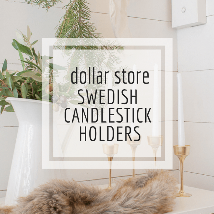 Make Swedish Candlestick Holders with Items from the Dollar Store