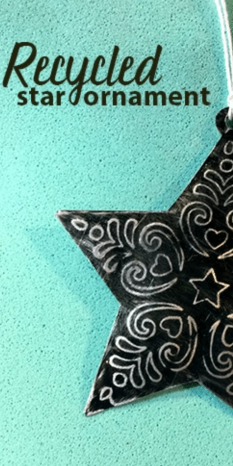 Upcycled star ornament using an aluminum can and the Cricut Maker! / DIY Christmas Ornament / Christmas with Cricut / Cricut Maker / Debossing Tool via @clarkscondensed