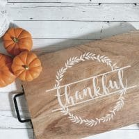 Beautiful DIY Thanksgiving Tray + Free SVG