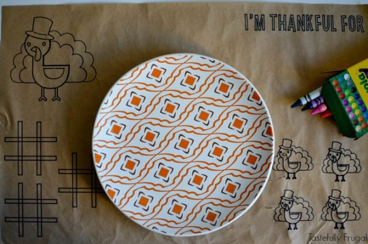 DIY Thanksgiving Placemats For Kids