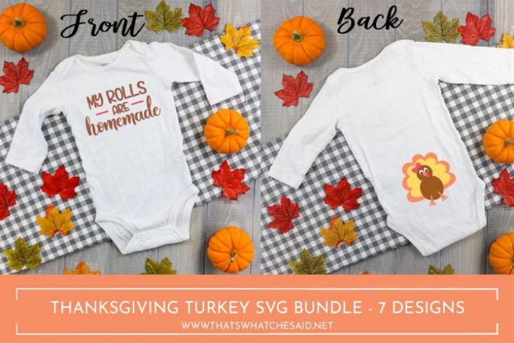 DIY Thanksgiving Baby Bodysuit + Turkey SVG Files