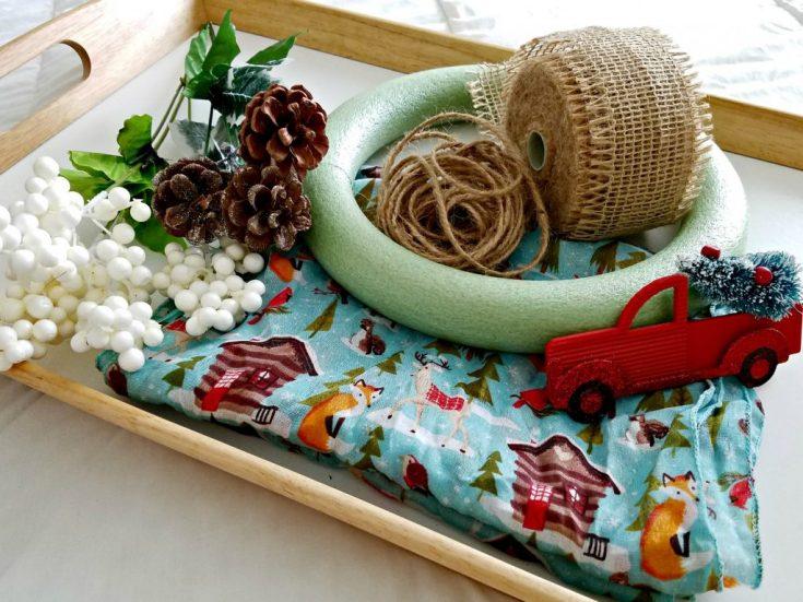 Woodland Scarf Wreath