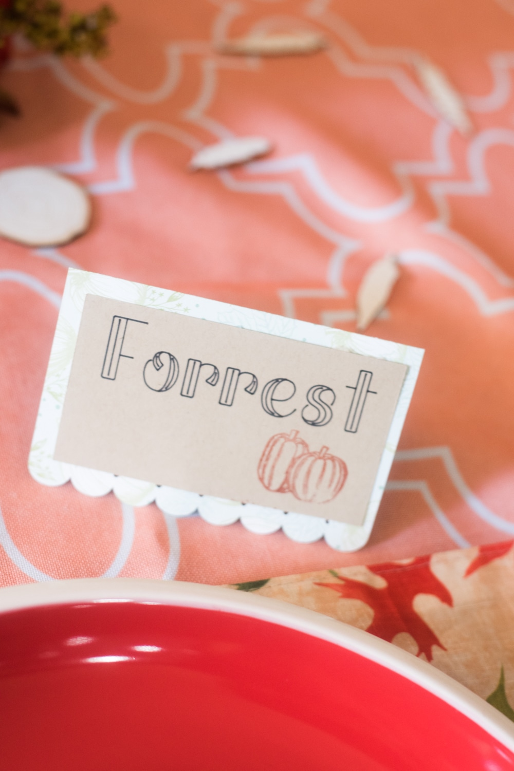 Place Setting Cards Ideas