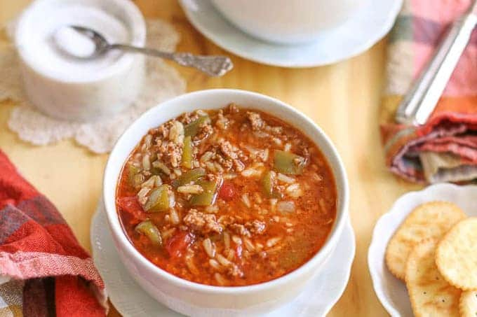 Instant Pot Stuffed Pepper Soup Recipe-Unstuffed Pepper Soup