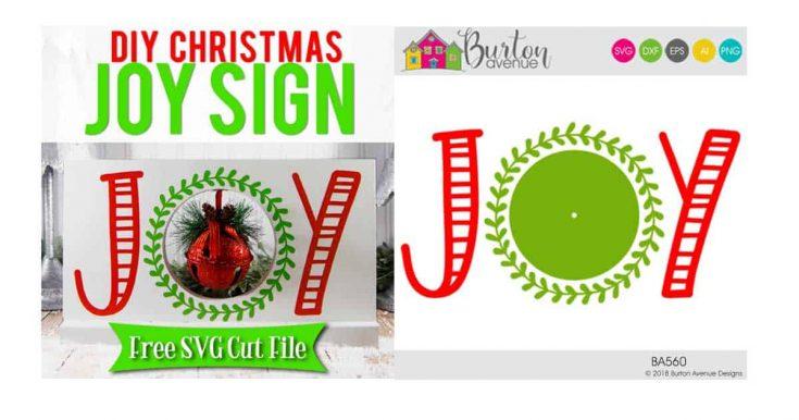 DIY Christmas Joy Sign w/Jingle Bell