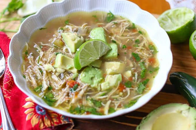 Mexican Chicken Soup- Instant Pot Spicy Chicken Soup