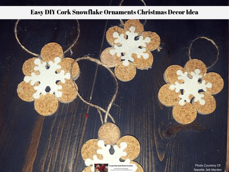 Easy DIY Cork Snowflake Ornaments Christmas Decor Idea