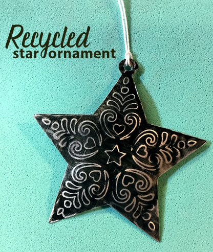 Recycled Star Ornament with Cricut Maker