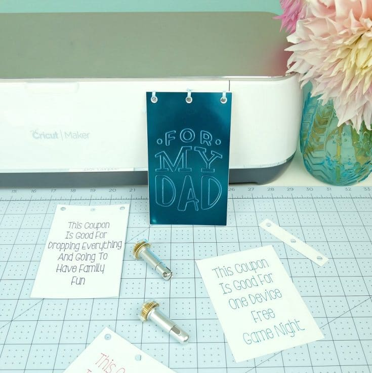 DIY Dad Coupon Book + New Cricut Maker Tools Breakdown