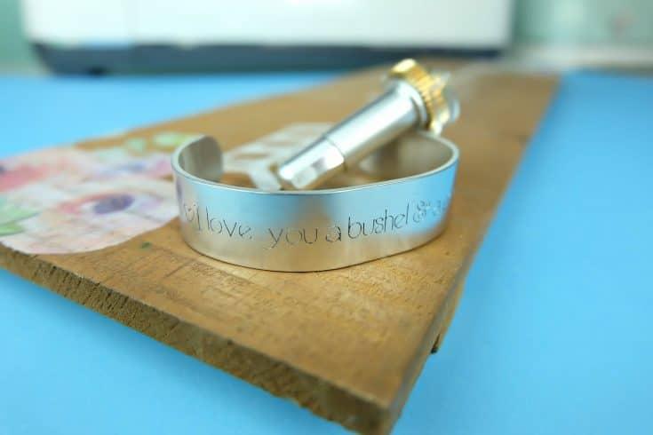 DIY Engraved Quote Bracelet- 10 Minute Cricut Project
