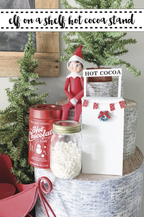 elf on a shelf cocoa stand