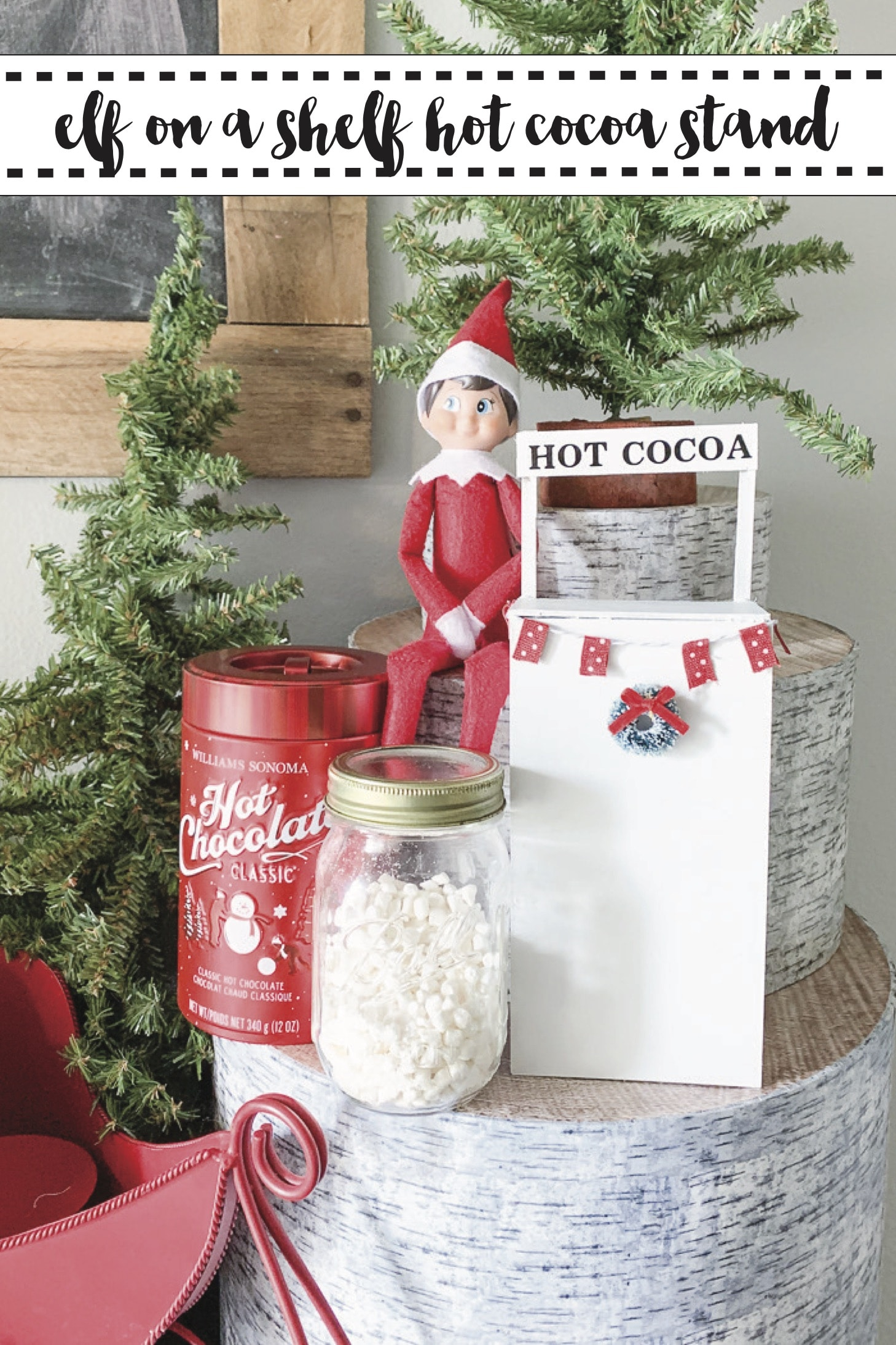 Elf on a Shelf Hot Cocoa Stand made with Cricut via @clarkscondensed
