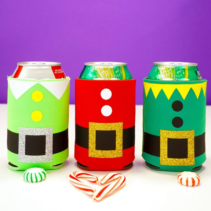 DIY Christmas Can Koozies