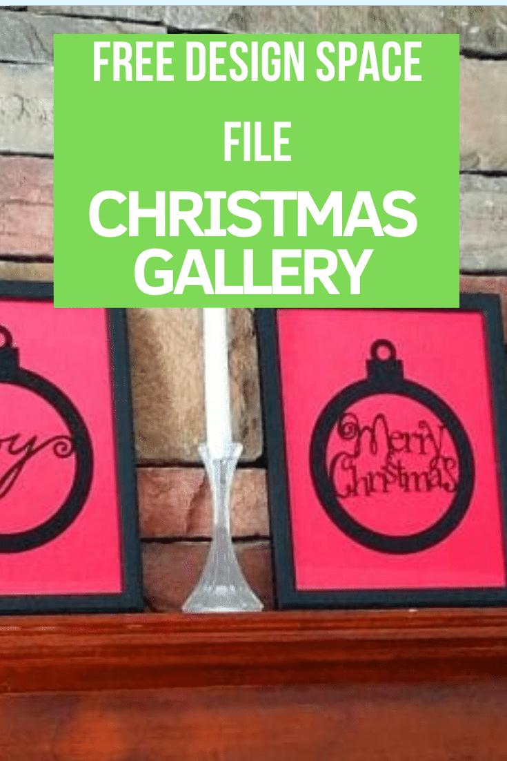 This is such a fun project - a Cricut Christmas Gallery with a free Design Space File #Criut #CricutDIY #cricutcrafts #designspace via @clarkscondensed