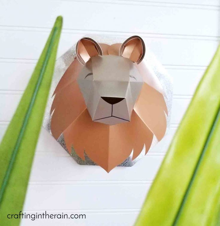 3D Lion Head with Cricut Scoring Wheel