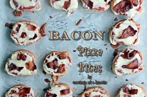 Bacon Pizza Bites | Olive Oil Tasting Party & Giveaway