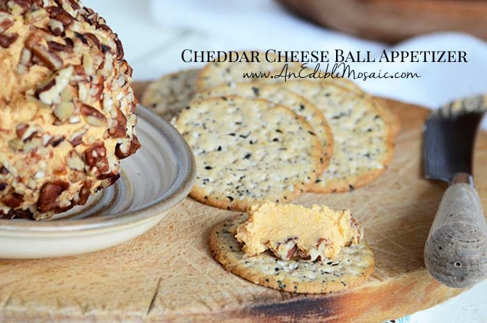 Easy Cheddar Cheese Ball Appetizer Recipe